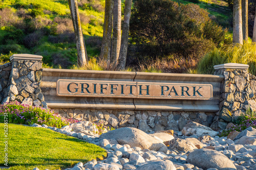 Griffith Park in Los Angeles - travel photography Wallpaper Mural