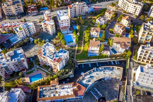 Fototapeta Limassol, overhead view at residential buildings. Cyprus obraz na płótnie