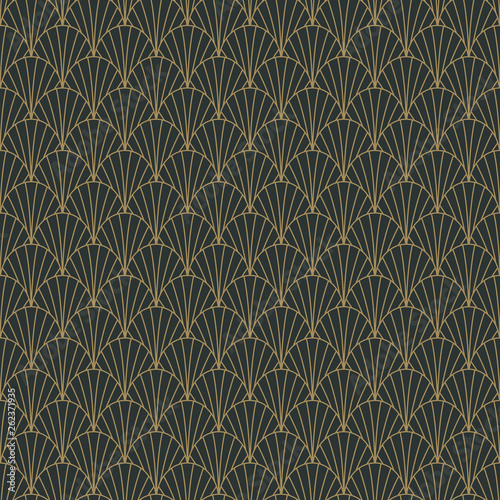 Photo  Art Deco Seamless Pattern - Repeating pattern design with art deco motif in anth