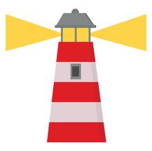 A Cartoon Lighthouse Vector Or...