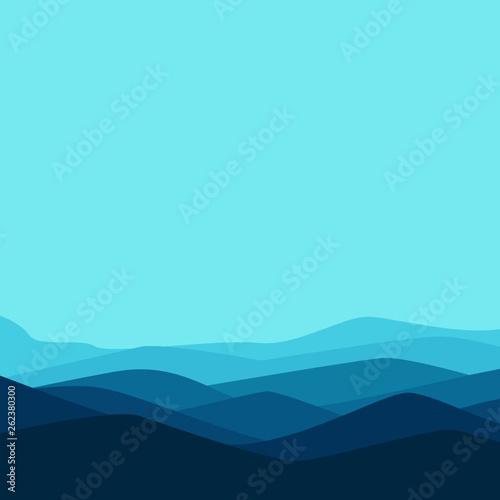 Poster Turquoise Ramadan Mubarak Background. Vector Illustration - Vector