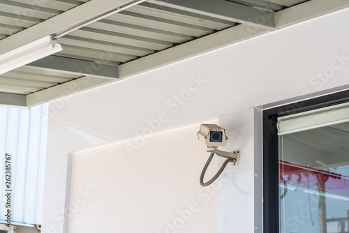Vászonkép  CCTV security camera for residence or store protection