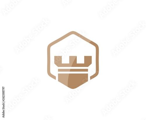 Leinwand Poster Castle logo
