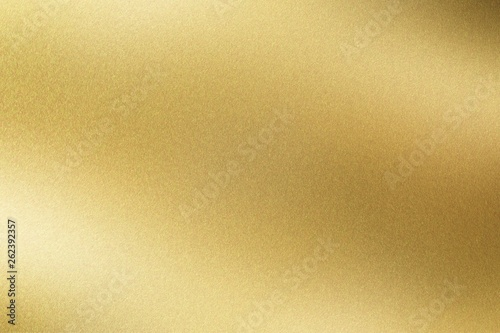 Abstract texture background, glowing golden stainless steel plate Canvas Print