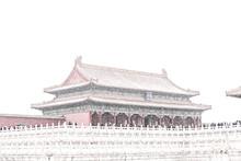 Forbidden City In The Heavy Snow