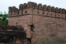 Chiang Mai Thailand, Restored Section Of The Defensive Wall Surrounding The Old Town