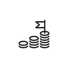 Money Gain Line Icon