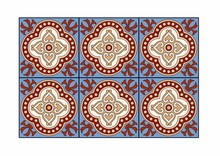Blue And Red Tiles