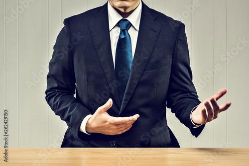 Fototapeta  説明するビジネスマン