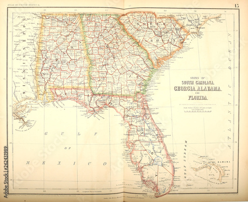 Recess Fitting World Map Old US state. Map