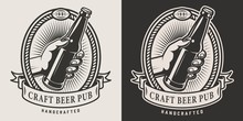 Monochrome Craft Beer Logo