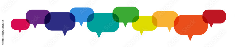 Fototapeta bunte farbige Sprechblasen Banner - Kommunikation Konzept