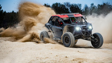 UTV Buggy In The Action On Sand
