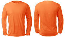 Orange Long Sleeved Shirt Desi...