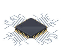 Processor Or Electronic Chip O...