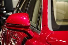 Red Modern Luxury SUV Car Rear...