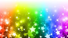 虹色 星 背景