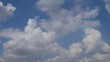 Sky and clouds in natural daylight. Clouds moving in the sky by the wind. Time lapse clouds on the sky.