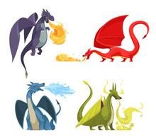 Dragons Fire Cartoon Concept