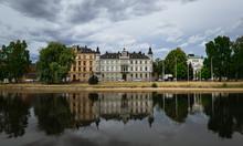 Panorama Von Karlstad In Einer Widerspiegelung, Schweden