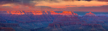 Sunset At Grand Canyon National Park, South Rim, Arizona, USA