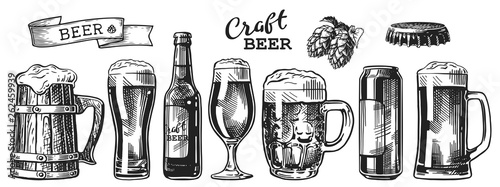 Papel de parede  beer sketch set