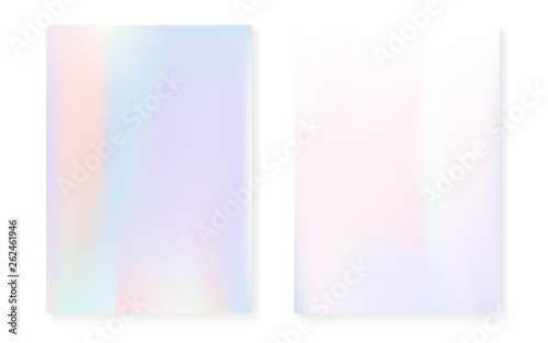 Pearlescent background with holographic gradient  Hologram