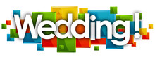 Wedding Word In Rectangles Bac...