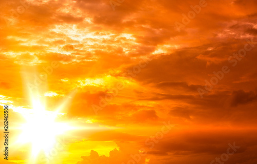 Fototapety, obrazy: Beautiful of sky and clouds at sunset, tropical space in summer