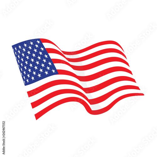 Fototapeta American waving flag obraz