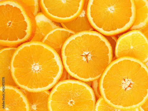 Photo Stands Slices of fruit heap of orange slices