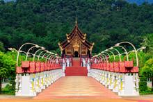 Royal Pavilion (Ho Kham Luang) In Royal Park Rajapruek In Chiangmai Thailand