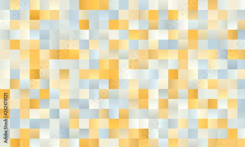 Fototapeta kratka  pale-yellow-and-white-polygonal-square-background-with-blurred-gradient-vector-illustration