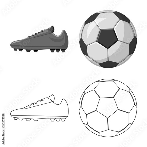 Fényképezés Vector illustration of soccer and gear sign
