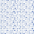 Background of blue geometric shapes and arithmetic signs