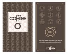 Coffee Card. Horizontal Card W...