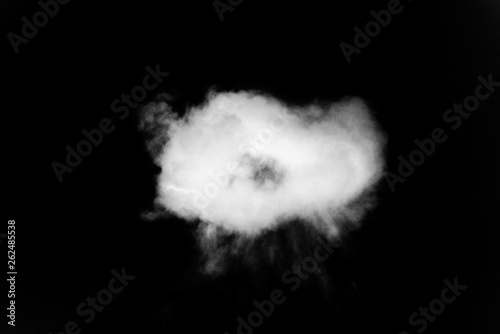 Foto  smoke or cloud isolated on black background
