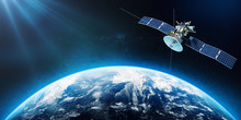 Space Satellite Orbiting The E...