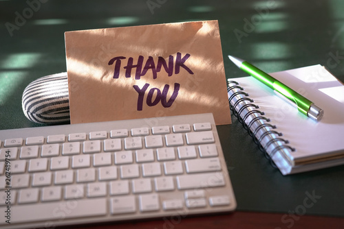 Thank you card inside an envelope Wallpaper Mural