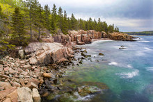 The Rocky Coast Of Mt. Desert Island And Acadia National Park In Maine, USA