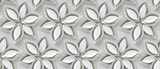 Fototapeta Abstract - White paper flowers on a white background