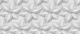 Fototapeta Abstract - White paper flowers 3d background.