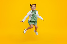 Trendy Kid Jumping And Screaming
