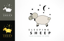 Sleeping Sheep, Moon And Star ...