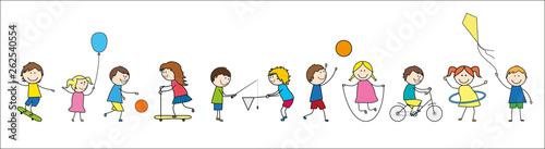 Frise-Enfants en train de jouer Fototapet