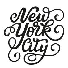 New York City. Vector Typography