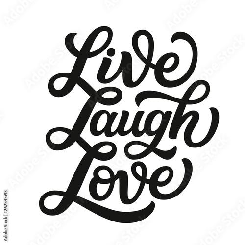 Live laugh love. Vector typography Canvas Print