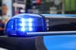Blaulicht an einem Polizei Einsatzwagen