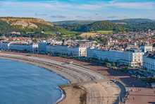 View Of Llandudno Seaside Town And Beach