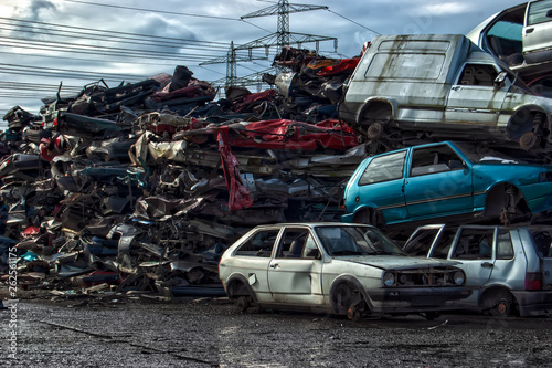 Fototapety, obrazy: Old Metal on Scrapyard